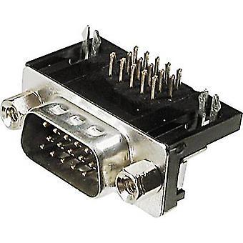 Tira de pin de ASSMANN WSW A HDS 15 A-KG/T D-SUB 90 ° número de pernos: 15 PC 1 de soldadura