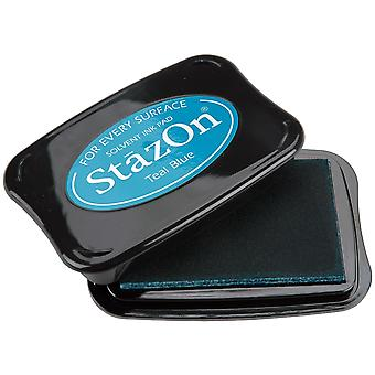 StazOn Solvent Ink Pad-Teal Blue