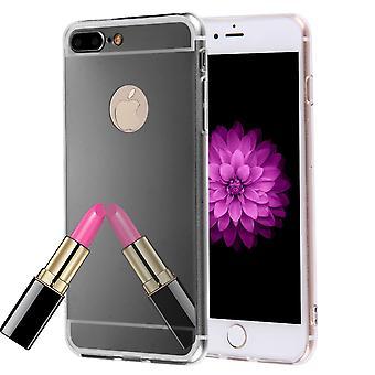 Apple iPhone 7 plus mobile shell koop nu mirror spiegel zachte geval bescherming cover zwart