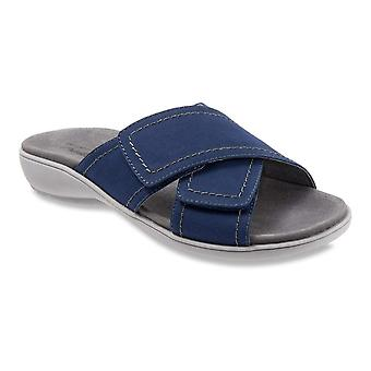 Trotters Womens getty Leather Open Toe Casual Slide Sandals