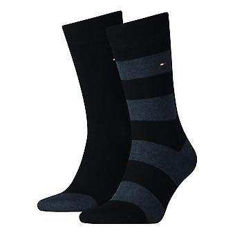 Tommy Hilfiger Rugby Striped Socks 2-Pack - Dark Navy