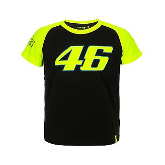 Valentino Rossi Black-Yellow 46 Race Kids T-Shirt