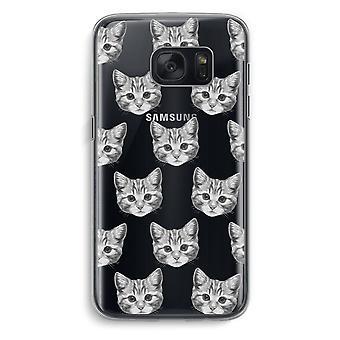 Samsung Galaxy S7 Transparent fodral (Soft) - kattunge