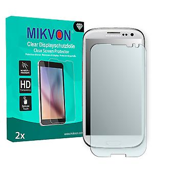 Samsung I9300 Galaxy S3 La Fleur Edition Screen Protector - Mikvon Clear (Retail Package with accessories) (intentionally smaller than the display due to its curved surface)