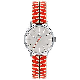 Orla Kiely | Ladies Patricia | Krem og rød stilk ut stroppen OK2267 Watch