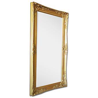 Italien motiv spegel i guld, yttermått 59x109 cm