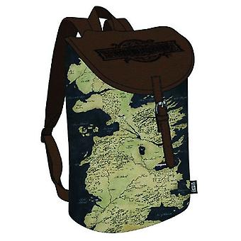 Game Of Thrones Back pack Westeros Map Logo new Official Rucksack Bag Brown