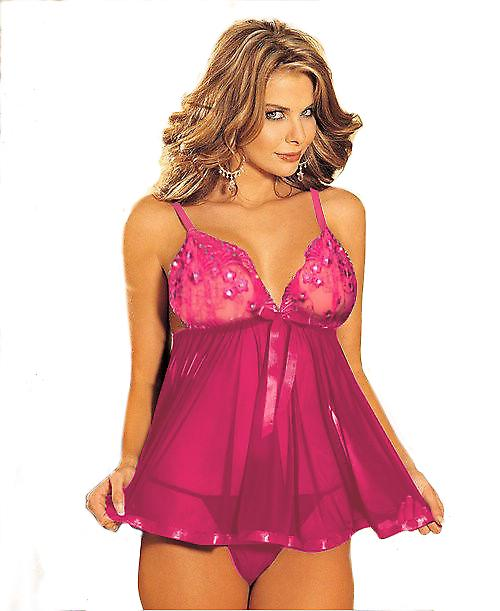Waooh 69 - Lace Babydoll And Sequins Irana