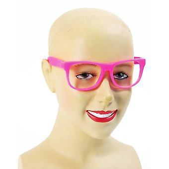 Colgante gafas Nerd rosa.