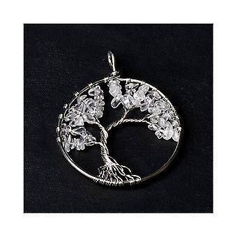 1 x Clear Crystal 50mm Tree Of Life Charm/Pendant CB52223