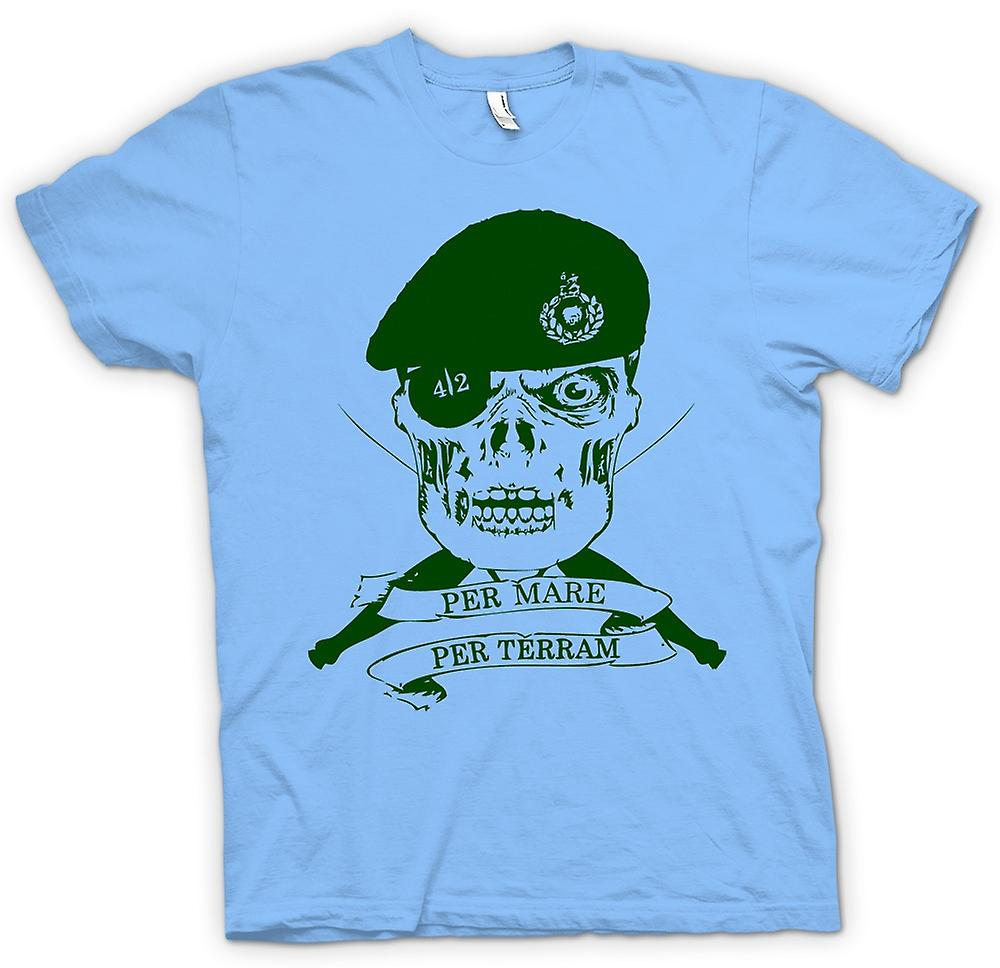 Heren T-shirt-Royal Marines 42 Cdo Motto