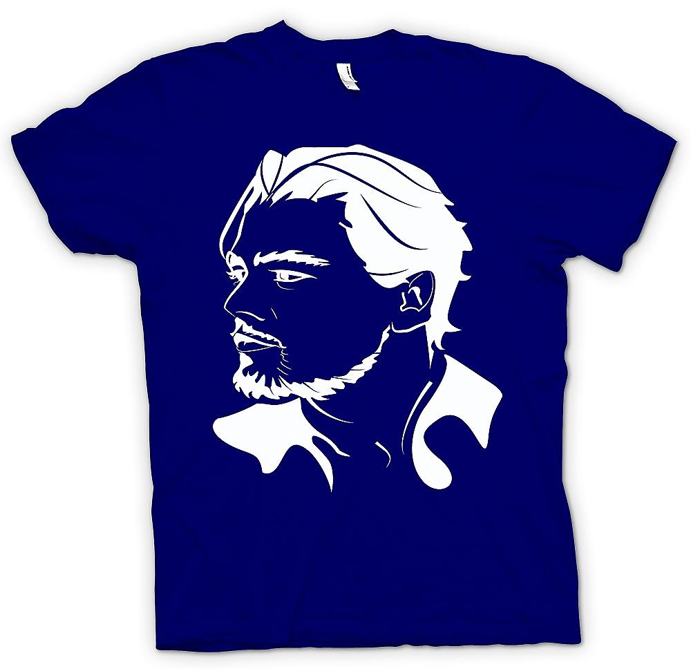 Herr T-shirt-Leonardo Dicaprio porträtt