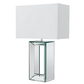 Searchlight REFLECTIONS 1610 Large Mirror Table Lamp With White Shade