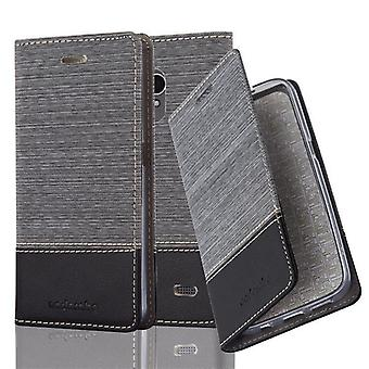 Cadorabo case for ZTE blade A520 - mobile case with stand function and compartment in the fabric design - case cover sleeve case bag book