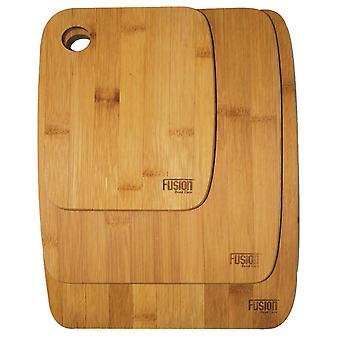 3 piezas bambú picado tablero madera alimentos corte Tajo el plato de servir