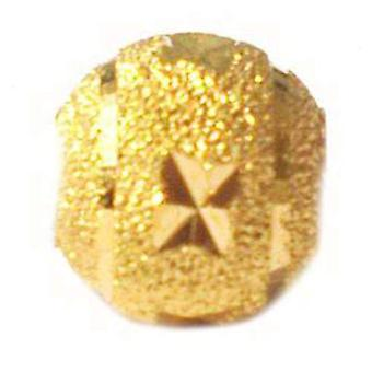 TOC BEADZ Gold Coloured Star Dust 9mm Slide-On Bead