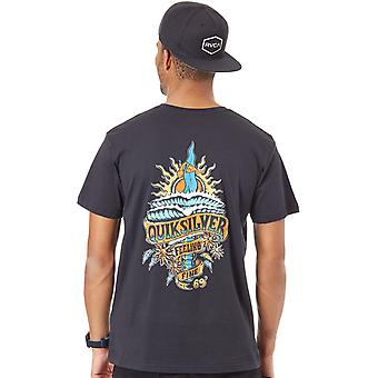 Quiksilver Black Tattered T-Shirt