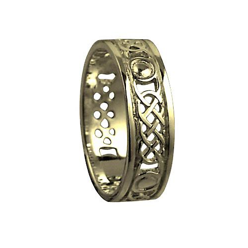 18ct Gold 8mm solid Celtic Wedding Ring Size R