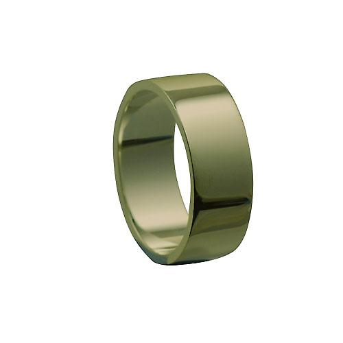 9ct Gold 8mm plain flat Wedding Ring Size Z