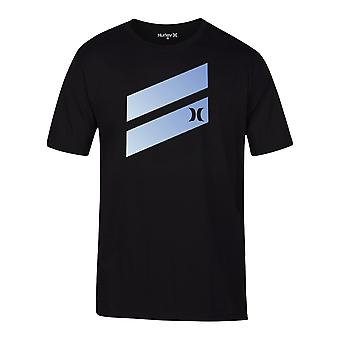 Hurley Men's T-Shirt ~ Icon Slash Gradient black