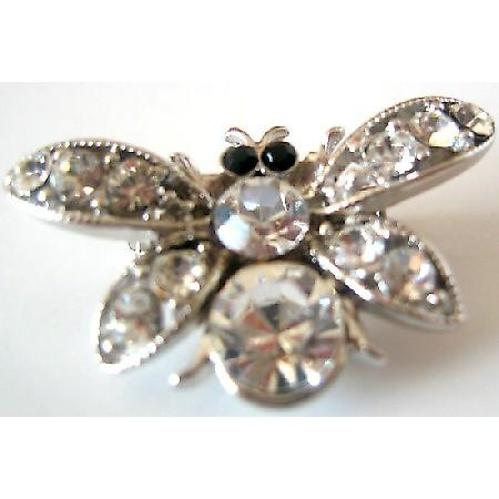 Clear Crystals Bumble Bee Brooch Buy & Give Affordable Christmas Gift