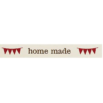 SALE - 15mm  'Home Made' Decorative Ribbon for Crafts - 4m