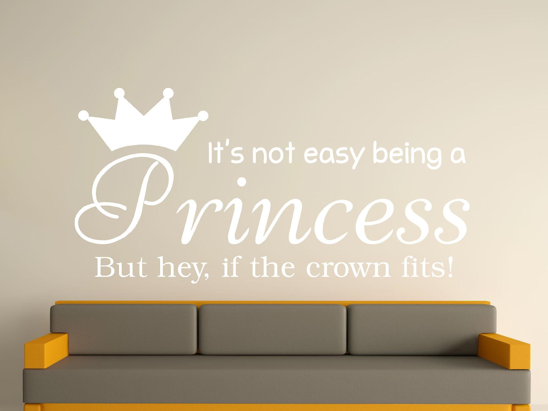 Being A Princess Wall Art Sticker - White