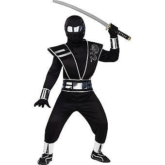 Silver Mirror Ninja Costume for kids & teens