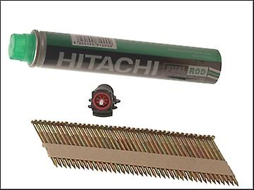 Hitachi 2.9 x 50mm Galvanised Ring Clipped Head Nail & Fuel (3300)