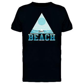 Opprinnelige stranden Tee menn-bilde av Shutterstock