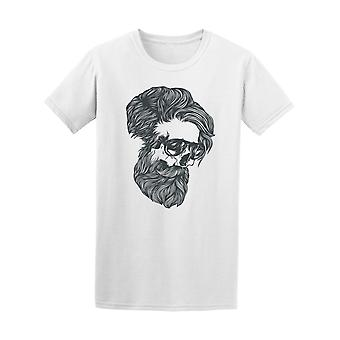 Bearded Skull Wearing Glasses Tee Men's -Image by Shutterstock