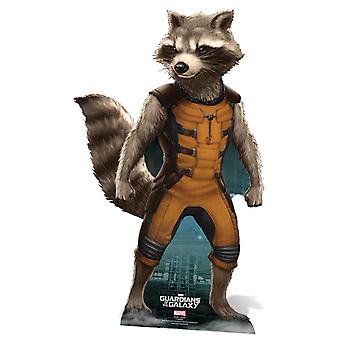 Rocket Raccoon Guardians of the Galaxy Levensgrote Kartonnen Knipsel / Standee / Standup