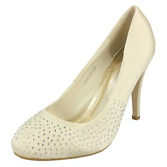 Ladies Anne Michelle Diamante Court Shoes