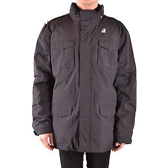 K-way Black Nylon Outerwear Jacket
