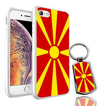 For Huawei Mate 20 Pro - Macedonia Flag Design Printed White Case Skin Cover + Free Metal Keyring - 0102 by i-Tronixs