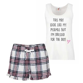 These May Look Like My Pyjamas But I Am Actually Dressed For The Day Pink Tartan Pyjamas