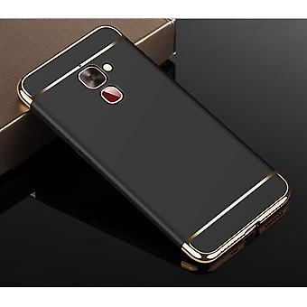 Cell phone cover case for LeEco Le 2 bumper 3 in 1 cover chrome case black