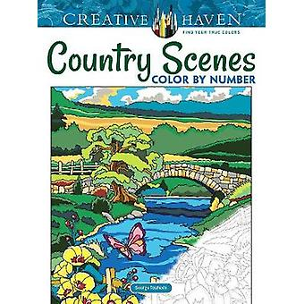 Creative Haven Country Scenes Color by Number by Creative Haven Count