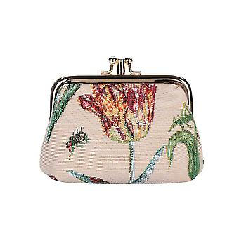 Marrel's tulip white coin purse by signare tapestry / frmp-jmtwt