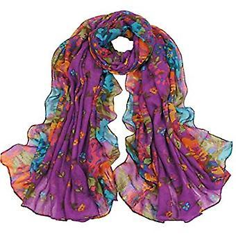 & reg; Womens zomerbloemen chiffon overmaatse lange wrap dunne stijl sjaal