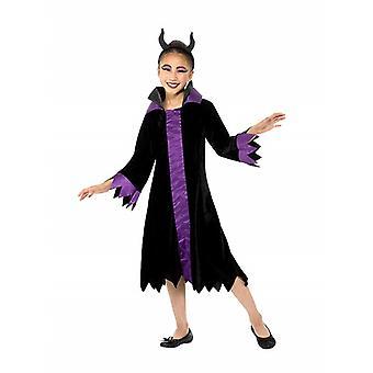 Nasty Queen Witch Children's Costume Girl Carnival Evil Queen Costume