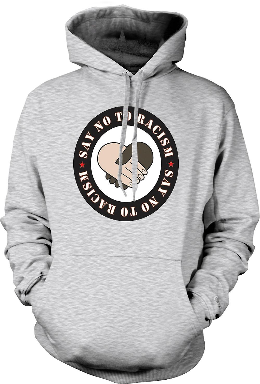 Mens Hoodie - Say No To Racism
