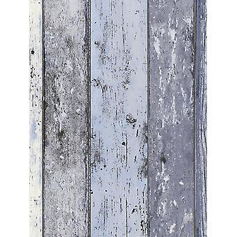 Nödställda trä panel bakgrund blå som Creation 8550-60