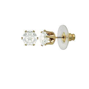 Ewige Sammlung Tara Clear Crystal Gold Ton Gestüt Ohrstecker