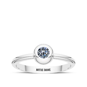 University Of Notre Dame - Notre Dame Engraved White Sapphire Ring