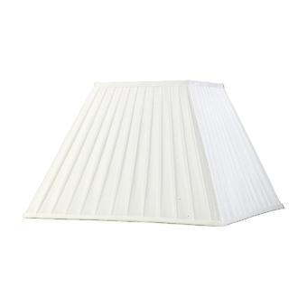 Diyas Leela Square Pleated Fabric Shade White 200/400mm X 275mm