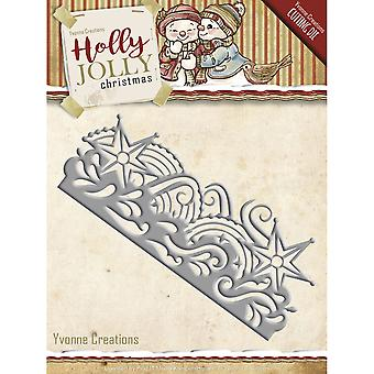 Find It Trading Yvonne Creations Die-Snowflake Border, Holly Jolly