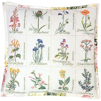 Wild Flower Cushion On Aida Counted Cross Stitch Kit 16 1 8