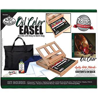 Easel Art Set W/Easy To Store Bag-Oil Color REA4903