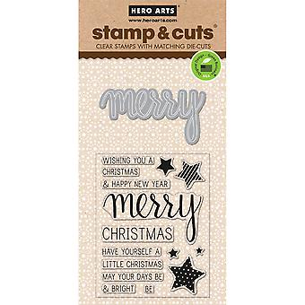 Hero Arts Stamp & Cuts-Merry HA-DC170